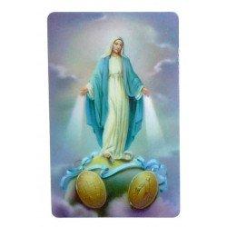 Carte de prière - Vierge Miraculeuse