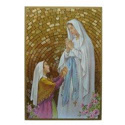 Cadre à suspendre de Notre Dame de Lourdes et Sainte Bernadette
