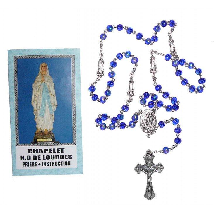 Chapelet Notre Dame de Lourdes avec notice