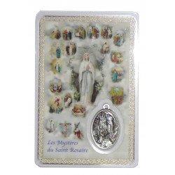 """Carte de prière """"Les Mystères du Rosaire"""""""