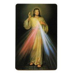 Carte de prière - Jésus Miséricordieux