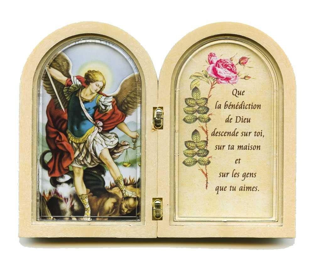 Diptyque avec prière à st Michel