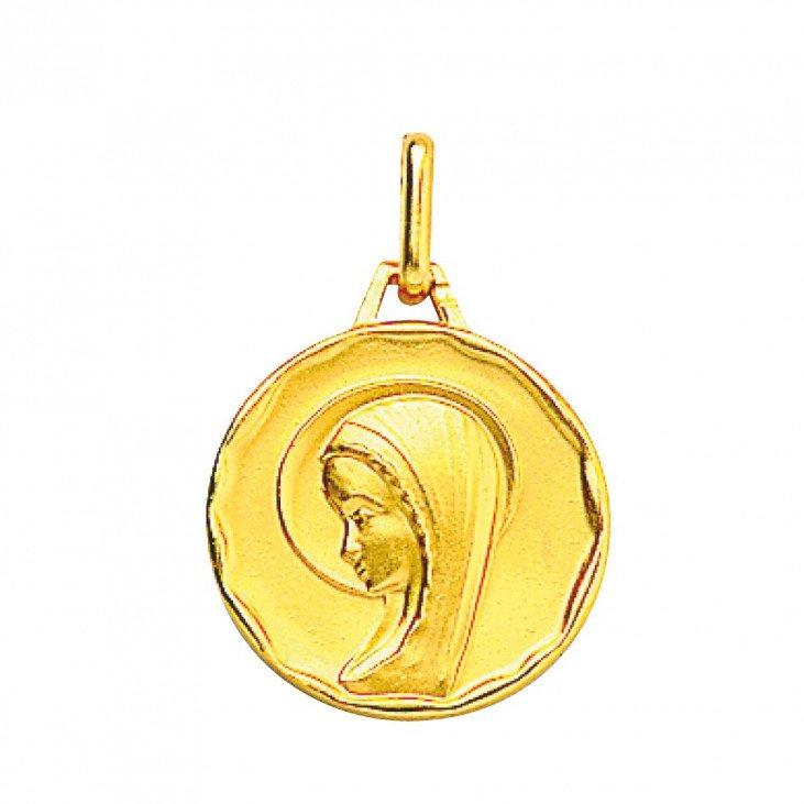 Médaille de la Vierge moderne 17mm - plaqué or