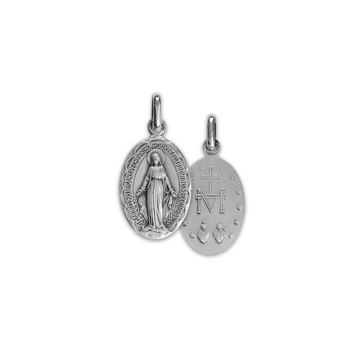 Médaille Miraculeuse festonnée - argent