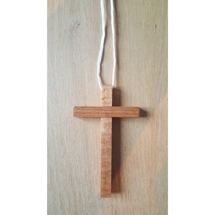Croix d'aube avec cordon - 10 cm