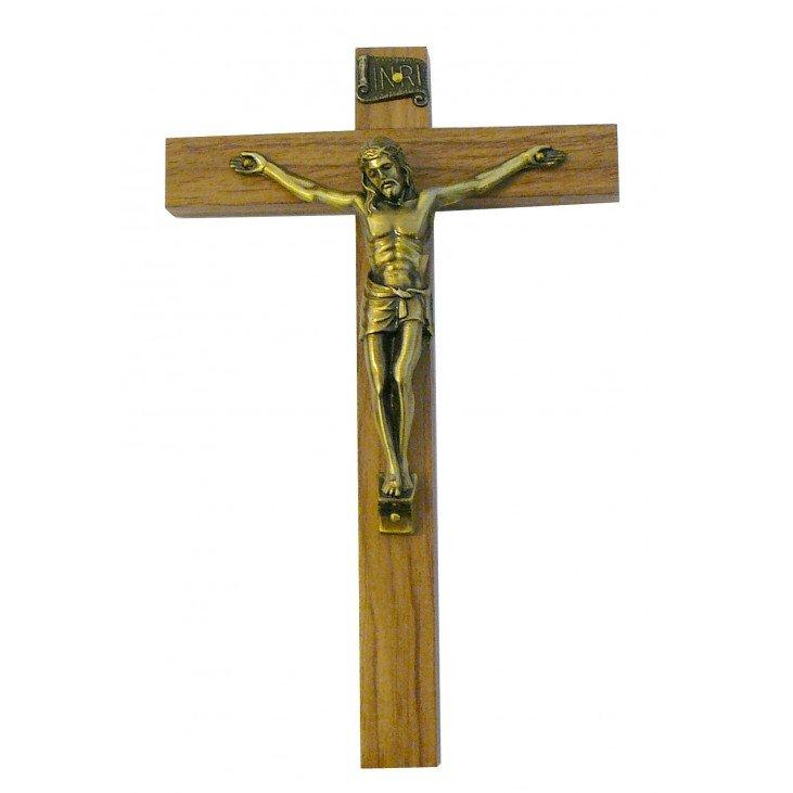 Crucifix en bois -  17 cm