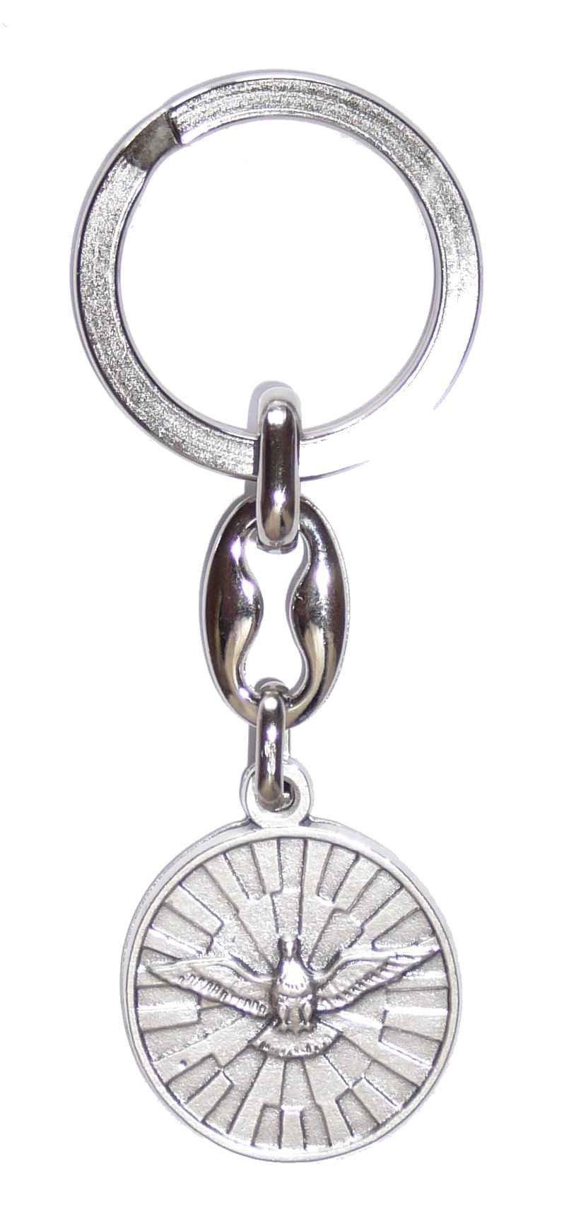 Porte-clés Saint Esprit avec prière