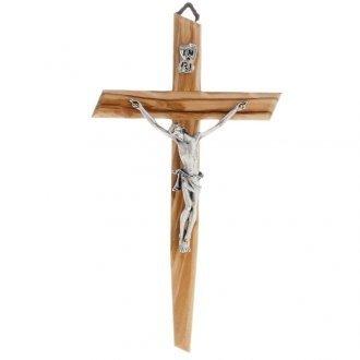 Crucifix moderne - Bois d'olivier