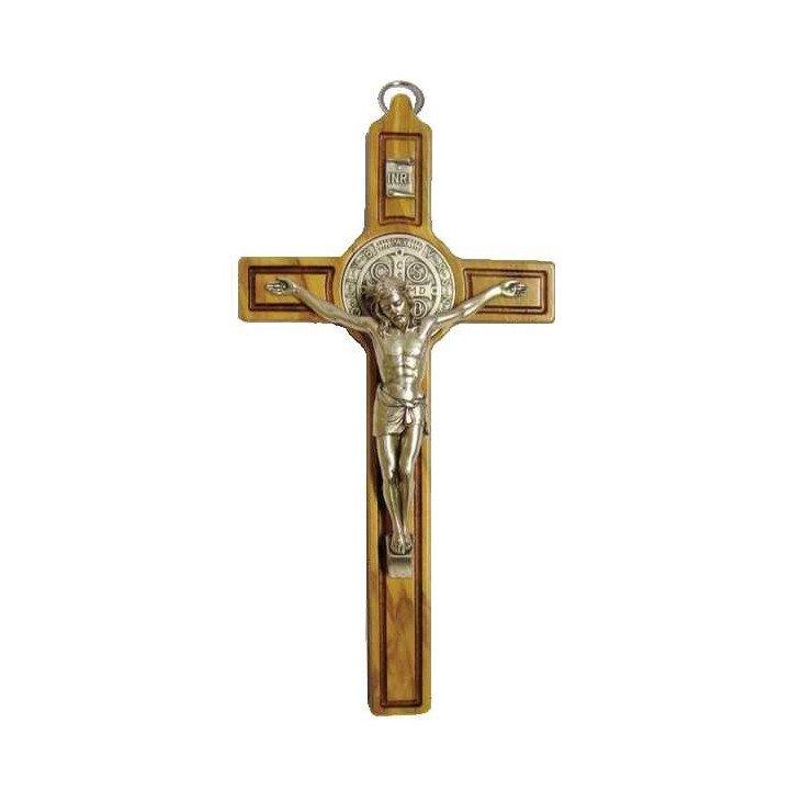 Crucifix Saint Benoit - Bois d'olivier