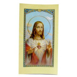 Image avec prière - Sacré-Coeur de Jésus