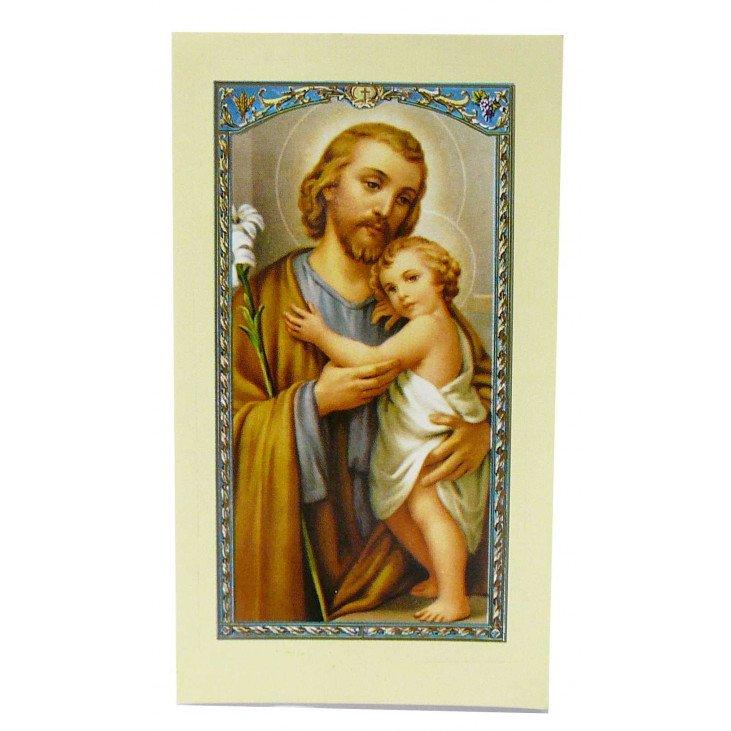 Image avec prière - Saint Joseph
